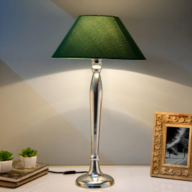 Royal Ovoid Chrome Lamp With Green Shade