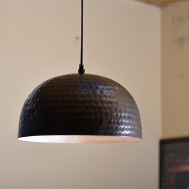 Antique Copper Hammered Pendant, Hanging Lamp, 10""