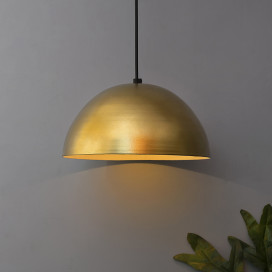 Metallic Golden Pendant Hanging Light, Hanging Lamp 10""