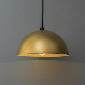 Metallic Golden Pendant Hanging Light, Hanging Lamp 8""