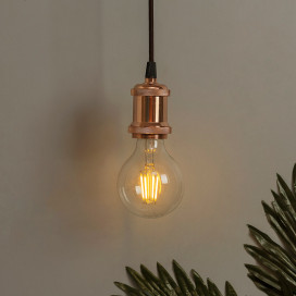 E26/ E27 Industrial Light Hanging Vintage Edison Pendant Lamp Metal, Rose Gold