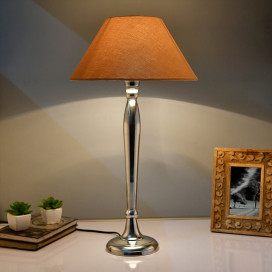 Royal Ovoid Chrome Lamp with Golden Shade