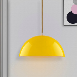 Metallic Yellow Glossy Pendant Hanging Light, Hanging Lamp 10""
