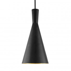 Black Metal Medium Inverted Cone Hanging Light, E26/27 Nordic pendant lamp, Modern kitchen, bedroom, living room ceiling lamp