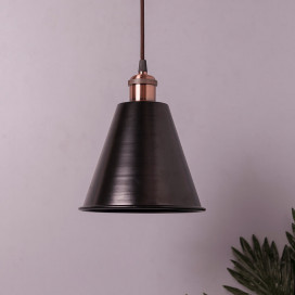 Industrial Black Guard Metal Bulb Iron Cone Vintage Hanging Ceiling Pendant Light Edison filament Holder Decorative Lamp Shade