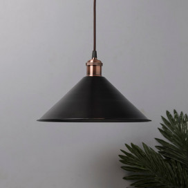 Industrial Black Barn Cone Metal Bulb Iron Cone Vintage Hanging Ceiling Pendant Light Edison filament Holder Decorative Lamp Shade