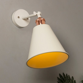 Edison Wall White Gaurd Shade Lamp, Vintage Industrial Loft, E27 Holder, Decorative, Black Swing Wall Light