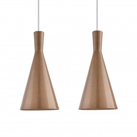 E26/E27 Single Head Metal Cone Shade Pendant Vintage Hanging Ceiling Light,  Set of 2