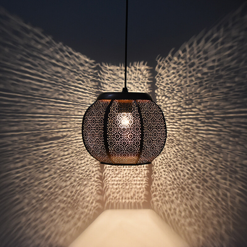 Classic Moroccan Hanging Lamp, Antique Light