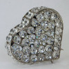 Heart Shaped Crystal Jewellery Box Silver