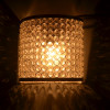 Crystal French Wall Sconce Lamp, Decorative Door Light,Silver and Crystal