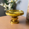Antique Golden Glass Cake Stand With glass dome, dessert/cupcake display stand, 25 cm