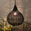 Classic twisted wire Crown hanging pendant light