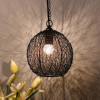 Classic twisted wire Round hanging pendant light
