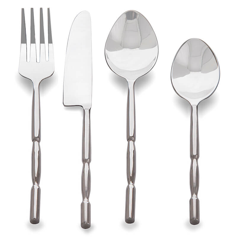 Premium Stainless Steel - Elegant Flatware 16 Pieces Regal Cuts Cutlery Set