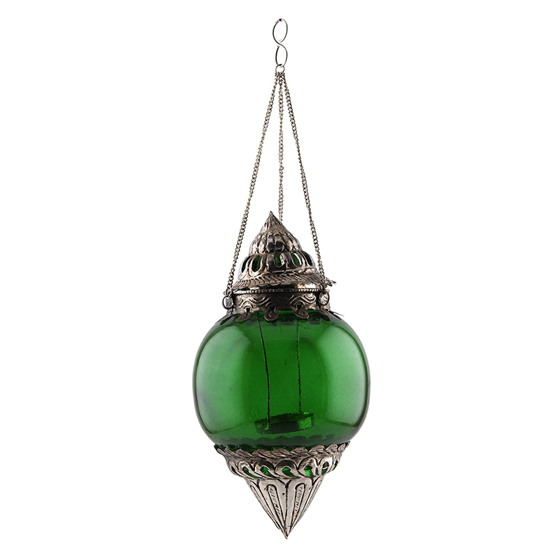 Hanging Brass Green Melon T-Light Holder