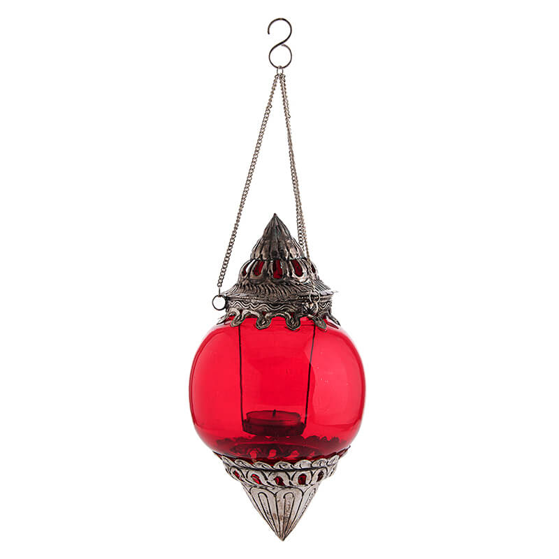 Hanging Brass Scarlet Melon T-Light Holder