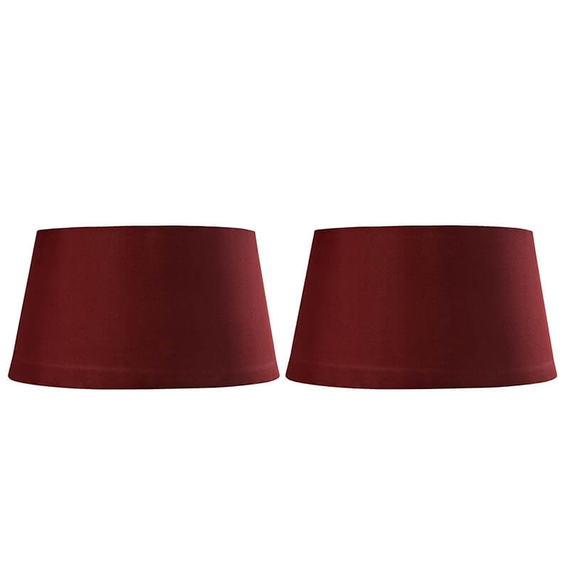 Classic Red Drum Cotton Shade, set of 2 (For E27, E14 and B-22 base)