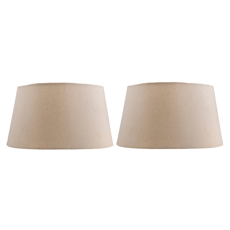 Classic Khadi Drum Cotton Shade, Set of 2 (For E27, E14 and B-22 Base)