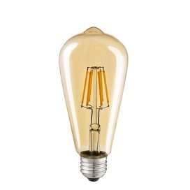 ST64 Pear Shape Filament LED Bulb, 4 Watt, Industrial Decorative Vintage Light Lamp