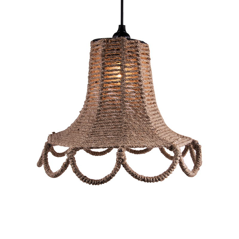 Knitted Rope Spiral Touch Hanging Light, Pendant Light