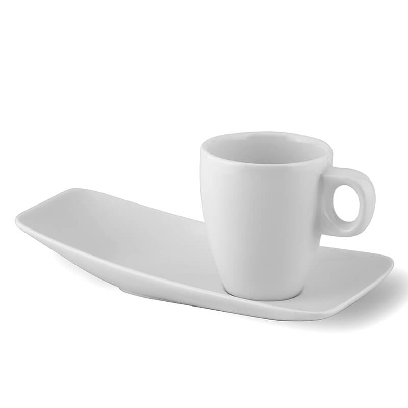 White Caffe Coffee Espresso Drinking Mug Tea Milk Fine Porcelain Cup with Saucer Tray, Tea Coffee Mug for Hotel, Cafe, Restaurant