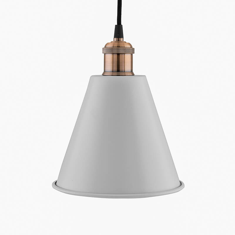 Industrial White Guard Metal Bulb Iron Cone Vintage Hanging Ceiling Pendant Light Edison filament Holder Decorative Lamp Shade