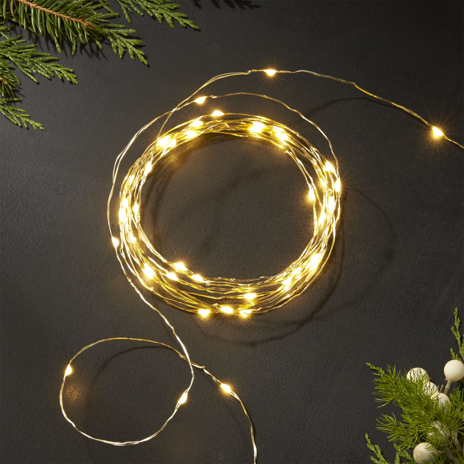 30-LED Fairy Copper String Lights 3m Waterproof, 3AA Battery, Warm White